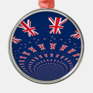 New Zealand flag.png Metal Ornament