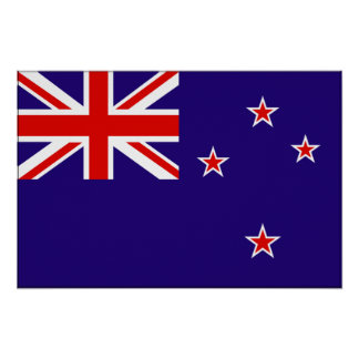 New Zealand Flag Poster