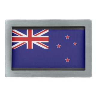New Zealand Flag Rectangular Belt Buckle