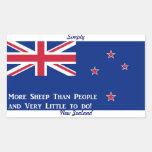 New Zealand Flag Rectangular Sticker