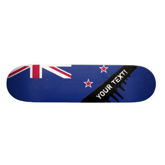 New Zealand Flag Skateboard