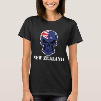 New Zealand Flag Skull T-Shirt