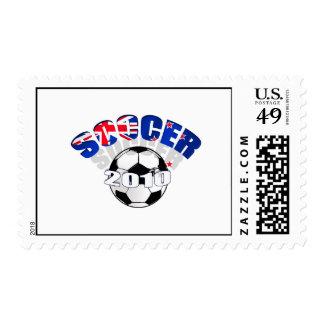 New Zealand Flag soccer ball Artwork Postage Stamps