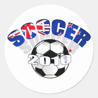 New Zealand Flag soccer ball Artwork Stickers