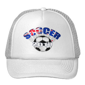 New Zealand Flag soccer ball Artwork Trucker Hat