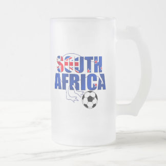 New Zealand Flag South Africa Soccer Gifts Frosted Glass Beer Mug