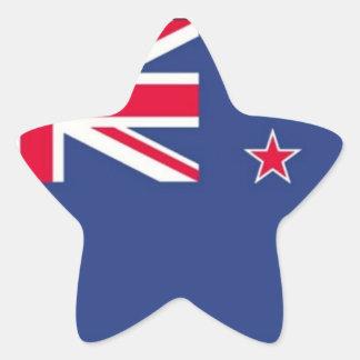 New Zealand Flag - Star Shaped STICKER !