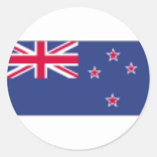 New Zealand Flag Round Stickers