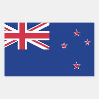 New Zealand Flag Rectangular Stickers