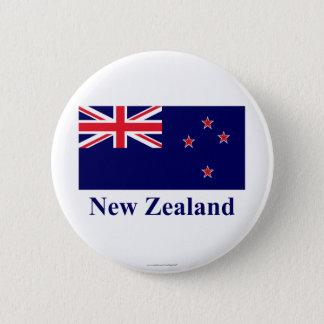 New Zealand Flag with Name Button
