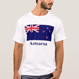 New Zealand Flag with Name in Maori T-Shirt