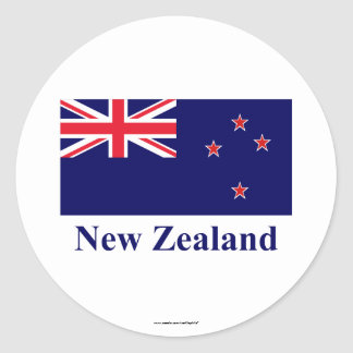 New Zealand Flag with Name Stickers