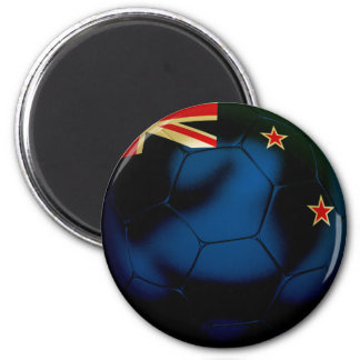New Zealand Football 2 Inch Round Magnet