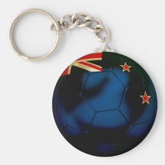 New Zealand Football Basic Round Button Keychain