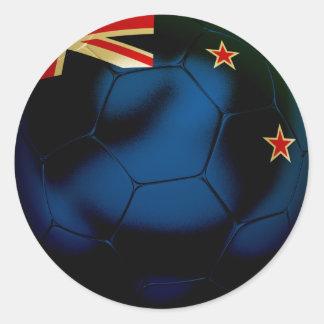New Zealand Football Classic Round Sticker