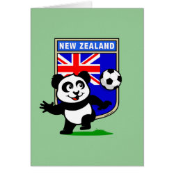 Greeting Card with New Zealand Football Panda design