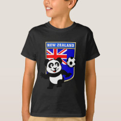 Kids' Hanes TAGLESS® T-Shirt with New Zealand Football Panda design