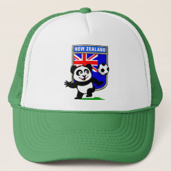 Trucker Hat with New Zealand Football Panda design