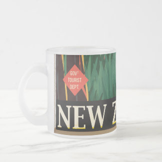 New Zealand Frosted Glass Coffee Mug