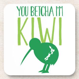 NEW ZEALAND FUNNY You BETCHYA I'm KIWI bird Coaster