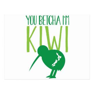 NEW ZEALAND FUNNY You BETCHYA I'm KIWI bird Postcard