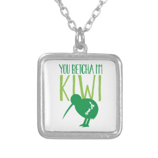 NEW ZEALAND FUNNY You BETCHYA I'm KIWI bird Silver Plated Necklace
