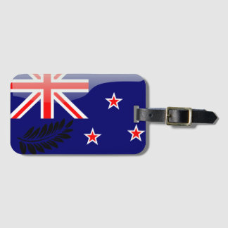 New Zealand glossy flag Bag Tag
