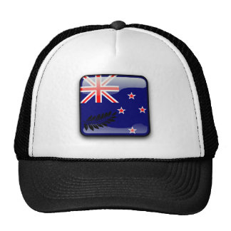 New Zealand glossy flag Trucker Hat