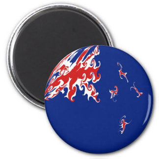 New Zealand Gnarly Flag Magnet