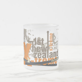 New Zealand Graphic Tshirts and Gifts Frosted Glass Coffee Mug