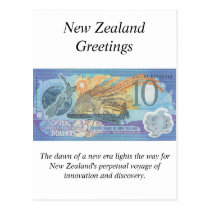 New Zealand Greetings Card - Commemorative note