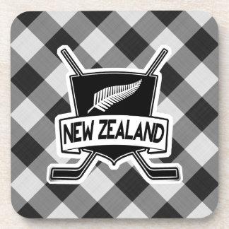 New Zealand Ice Hockey Flag Drinks Coasters