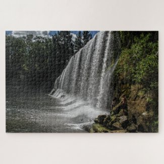 New Zealand Jigsaw Puzzle – Rere Falls