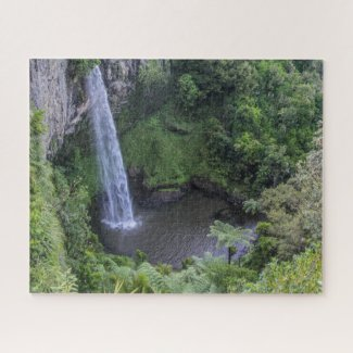 New Zealand Jigsaw Puzzle – Waterfall Bridal veil
