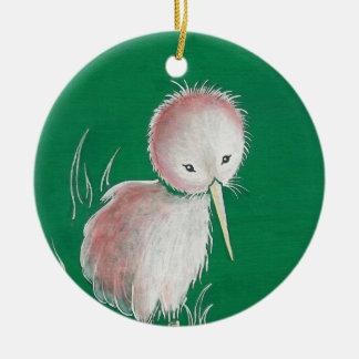New Zealand Kiwi Bird Double-Sided Ceramic Round Christmas Ornament