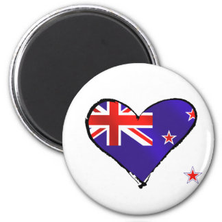 New Zealand love heart flag gifts Magnet