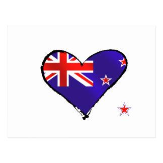 New Zealand love heart flag gifts Postcard
