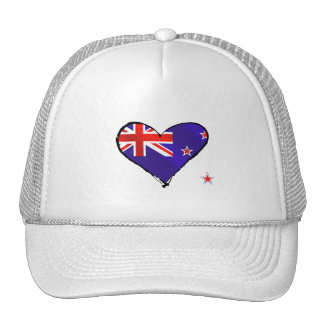 New Zealand love heart flag gifts Trucker Hat
