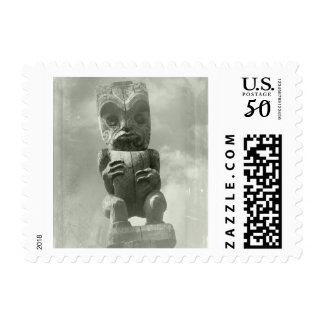 New Zealand Maori Carving Postage