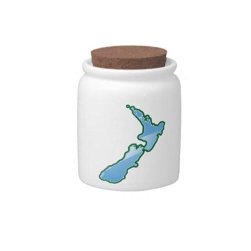 New Zealand MAP Candy Jar