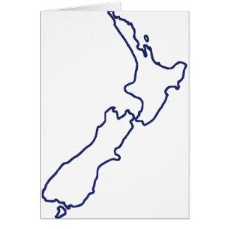 New Zealand Map Card