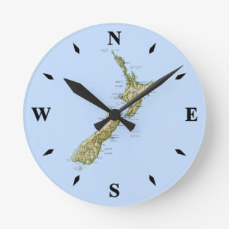 New Zealand Map Clock