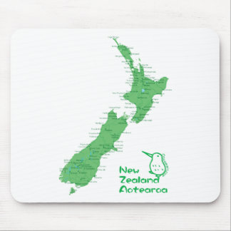 New Zealand Map Mouse Pad