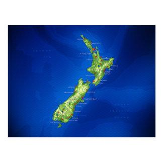 New Zealand Map Postcard