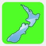 New Zealand MAP Square Sticker