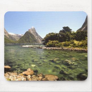 New Zealand, Mitre Peak, & Bowen River entering Mouse Pad
