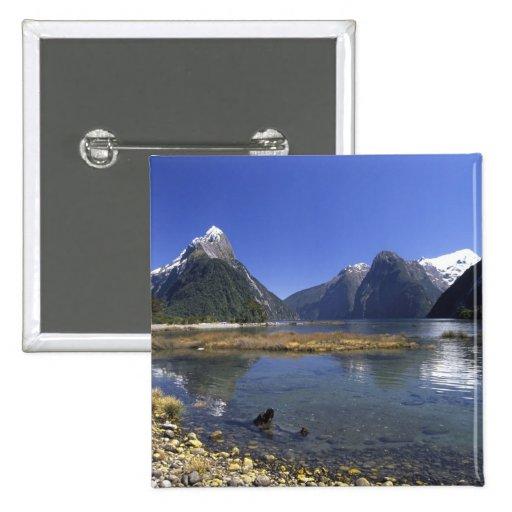 New Zealand, Mitre Peak & Milford Sound, Pinback Buttons
