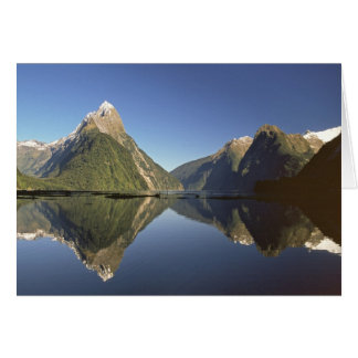 New Zealand, Mitre Peak & Milford Sound, Card