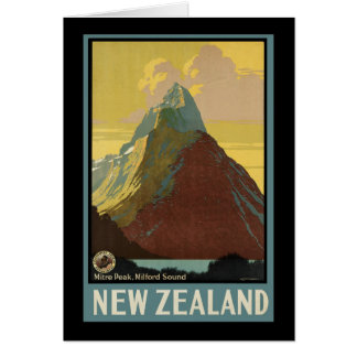 New Zealand Mitre Peak Milford Sound Card