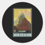 New Zealand Mitre Peak Milford Sound Classic Round Sticker